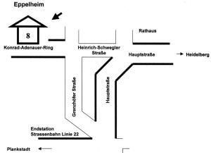 Anfahrt Eppelheim